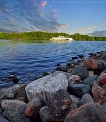 (lhemund) Tags: park sky panorama nature river landscape nikon outdoor stones moscow panoramic shore pan tamron 10mm d7000