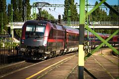 Railjet (Vajvoda Tams) Tags: station train mnchen hungary budapest rail loco locomotive bb keleti mv vonat plyaudvar vast tatabnya mozdony railjet