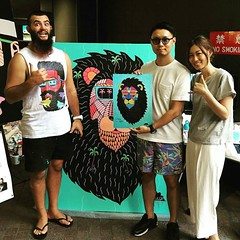 Photo (Mulga The Artist) Tags: street art animals painting cool artist joel sydney beards moore posca mulga