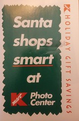 Kmart Holiday Gift Savings Insert (Retail Retell) Tags: kmart holiday christmas kmartphotocenter santa claus elf advertisement insert 90s photo sleeve 1990s envelope