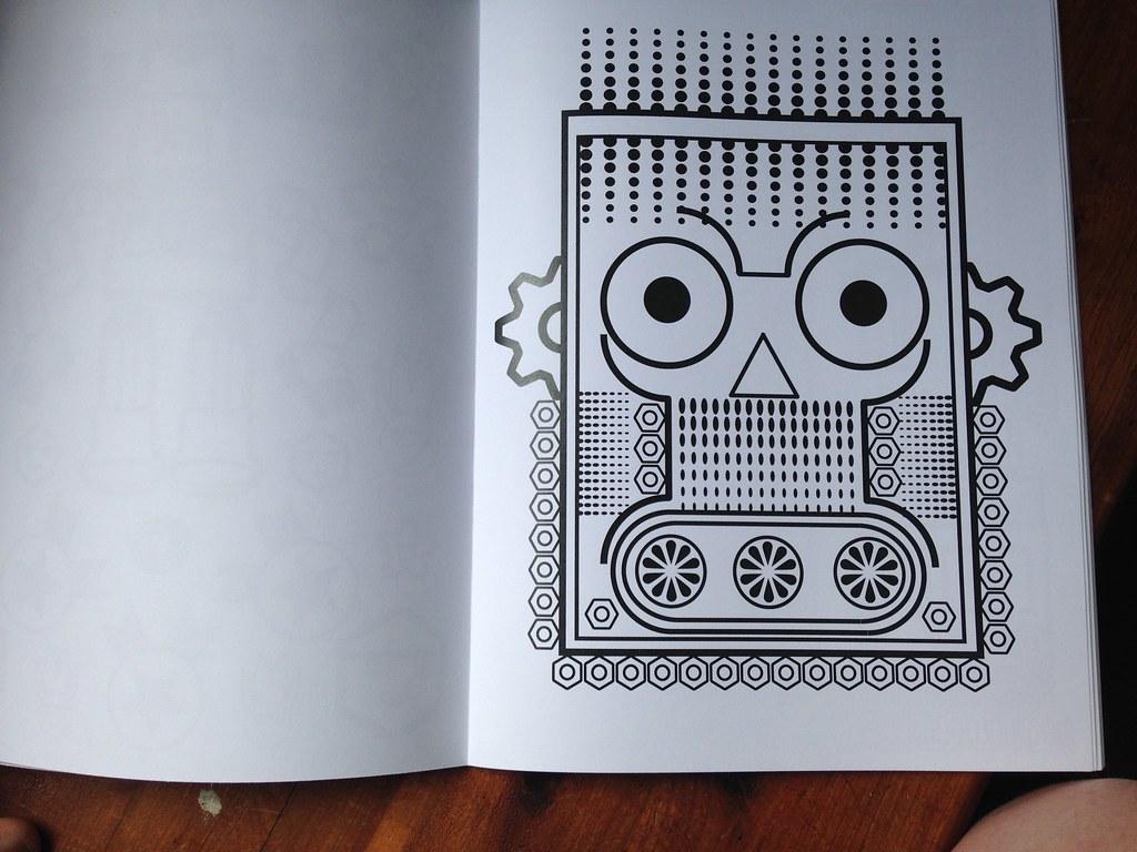 Robotswebe Coloring Book Gammaraybots Tom Torrey Tags Street Fiction Skeleton Army