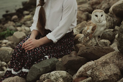 Owl (Alina Autumn) Tags: new people color bird art history love nature water girl animal vintage hair photo hands mood photographer russia outdoor atmosphere owl tenderness fragility