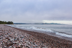 Breaking news (ZensLens) Tags: camping lake fog landscape scenic superior coastal amethyst lakesuperior rugged ontarioparks