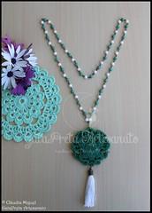 """Colar comprido """"Green China"""" (coleco Primavera-Vero 2016) (GataPreta Artesanato) Tags: colar colares bijuteria bijuterias bijuteriaartesanal necklace"""