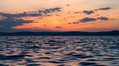 _DSC0885_2 (Elii D.) Tags: blue sunset summer moon lake beach night stars star boat ship balaton