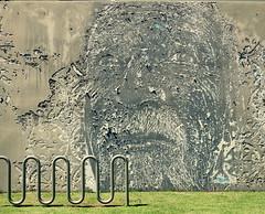 Getting Old (Alex L'aventurier,) Tags: street old art texture grass wall peeling puertorico decay peel rue mur pelouse vieux rampe gazon portorico