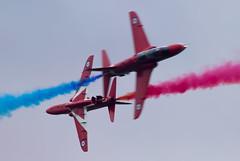 Crossover (The Crewe Chronicler) Tags: canon airplane aircraft aviation airshow redarrows raf aerobatic aerobatics airdisplay cosford rafcosford cosfordairshow theredarrows lserieslens rafcosfordairshow canon7dmarkii