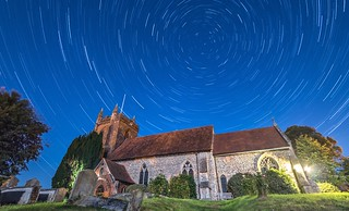 St Andrews Chuch, Colne Engaine, Star Trail.