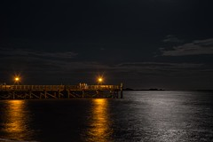 Gathering On The Pier (stevem19) Tags: nightshots southportnc longexposure waterreflections moonreflections capefearriver piers