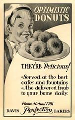Civic Repertory Theatre of Los Angeles (jericl cat) Tags: illustration vintage paper design losangeles theatre ephemera donuts civic davis perfection 30s bakers optimistic repertory