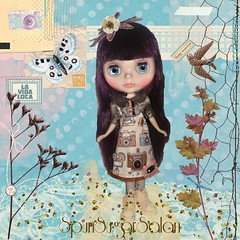 Picture perfect (spunsugarsalon) Tags: camera flower bird glitter butterfly garden scrapbooking doll handmade lace embroidery buttons pastel sewing memories overlay elements serene blythe shabby playscale dollcouture asianfashiondoll bceu picmonkey