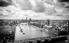 Thames, London (kokorage) Tags: london city cityscape urban housesofparliament themse thames river mono monochrome palaceofwestminster