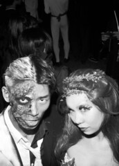 Two-face and posion ivy (THOMAS BESWICK) Tags: halloween 35mm tokyo blackwhite cosplay tmax shibuya nishika cozplay n800 tkbmedia
