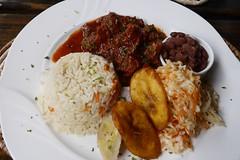 Stewed Pork (lulun & kame) Tags: america dominica soufriere caribbeanfood lumixg20f17 americasfood