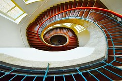 Weimar University _ Germany (Hewraman (Catching up ) :-)) Tags: red weimar university staircase wendeltreppe