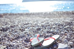 Beach time (efiagel1994) Tags: corfu greece beach sun filpflops island blur nikon 5100 35mm18