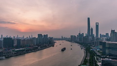 Timelapse of Lujiazui & The Bund Shanghai (HIKARU Pan) Tags: china sunset building horizontal clouds outdoors photography timelapse asia shanghai cloudy chinese aerialview jinmaotower thebund lujiazui huangpuriver orientalpearltvtower shanghaitower 24l 1dx timelapsevideo shanghaiworldfinancialcenterswfc canonef24mmf14liiusm