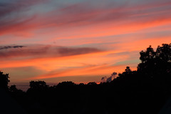 Sunset (Gregushko) Tags: sunset sun clouds summer red warmth sky silhouettes