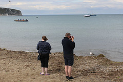 IMG_3286_small_F (Paul Russell99) Tags: swanage seagull seaside photographing cliffs boats sea beach