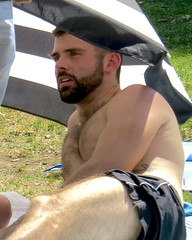 IMG_6929 (danimaniacs) Tags: party griffithpark hot sexy man guy shirtless hunk beard scruff mansolo