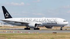United 777-200 (N77022) Tags: frankfurt eddf fra airport plane spotting airplane germany n78017 star alliance united ua ual airlines boeing 777200er 772 b772 takeoff roll continental
