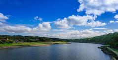 Ro Mio (Carlos Pea Fernandez) Tags: tio river mio portomarin azul blue sky cielo nubes clouds verde green water agua camino santiago galicia