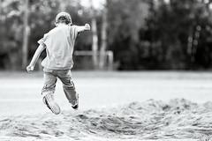 jump! (Cano Vri) Tags: 2016 helsinki herttoniemi pituushyppy urheilu eero 7v bw sport jump