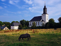 The Church of Euba (liebesknabe) Tags: latebaroque barock baroque kirche church christianity pony saxony village building sonyalpha a5100 ilce5100 selp1650 germany
