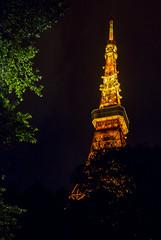 Tokyo Tower (HansPermana) Tags: japan tokyo city cityscape tower tokyotower night light illuminated nightshot nightscape dark