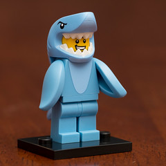 Lego Minifigures Series 15- Shark Suit Guy (Andrew D2010) Tags: shark minifigure sharksuitguy sharkman sharksuit suit lego