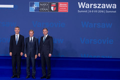 President Tusk on the NATO Summit in Warsaw, 08 July 2016 (europeancouncilpresident) Tags: warsaw poland nato eu europeanunion european council president donald tusk jeanclaude juncker jens stoltenberg
