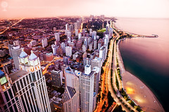 Gold Coast and Lake Shore Drive (hsadura) Tags: goldcoast lakeshoredrive chicago downtown lake lakemichigan evening