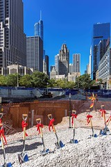 A shovels-ready project, 465 North Park apartments (YoChicago) Tags: chicago yochicago jupiter metlife pappageorgehaymes 465northpark highrise newconstruction apartments streeterville nearnorthside groundbreaking