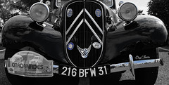 ancienne srie - old series (serial n N6MAA10816) Tags: old ancien voiture car bleu blue desaturation noir black blanc white