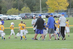 1476 (bubbaonthenet) Tags: 09292016 game stma community 4th grade youth football team 2 5 education tackle 4 blue vs 3 gold