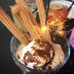 Boqueria #dessert #icecream #churros #sparklers #ues #boqueria #nycfoodgals... (foodnerdnyc) Tags: boqueria churros dessert icecream nycfoodgals sparklers ues