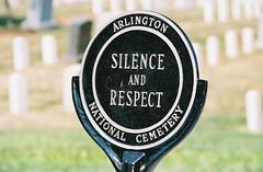 In Grateful Remembrance (Bill in DC) Tags: film arlington 35mm canon virginia washingtondc va arlingtonnationalcemetery eos3 kodacolor
