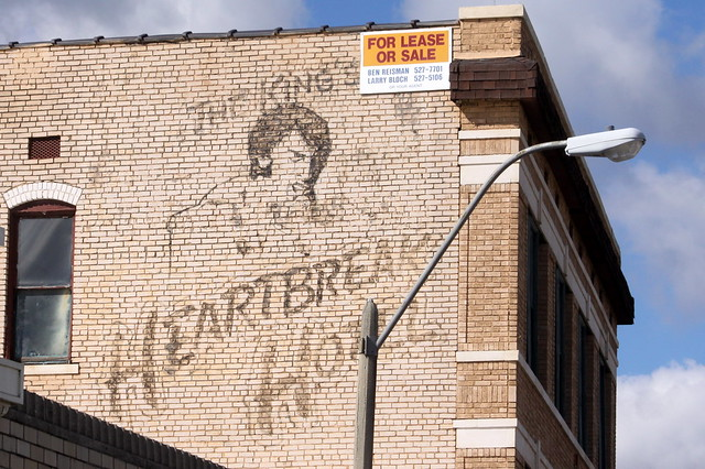 The King's Heartbreak Hotel faded sign