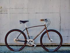650b 5-Speed Cruiser (guidedbybicycle) Tags: orange bike bicycle handmade steel archer custom cruiser velo igh 650b sturmey