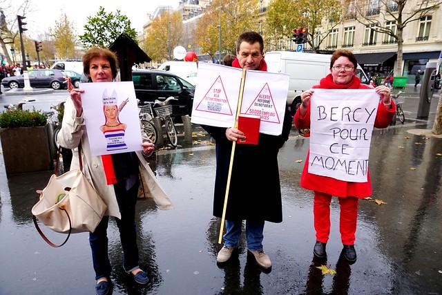 2014 Paris. Protest contre le projet de LOI MACRON