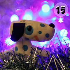 Advent Toys #15/24 (cazphoto.co.uk) Tags: christmas blue dog advent bokeh spots tinsel bluedal 151214 adventtoys canoneos5dmkiii canon100mmeff28lisusm toybox2014 toyboxdec2014