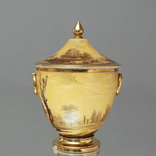 Dagoty à Paris: Kaffeeservice, Landschaften, Grisaille, Schäferszenen, Bukolische Szenen, Gold, Klassizismus, Empire