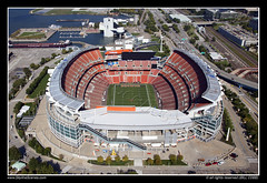 FirstEnergy Stadium (SkylineScenes (Bill Cobb)) Tags: city ohio urban football downtown stadium cleveland nfl aerial browns northcoast firstenergy