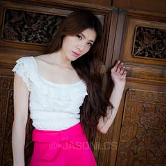 Miko - EH - 006 (jasonlcs2008) Tags: street pink woman white sexy girl beautiful fashion asian model singapore pretty photoshoot miko emerald venom 2014 emeraldhill jasonlcs