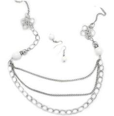 5th Avenue White Necklace P2630A-2