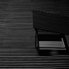 Abstract: Gallery of Modern Art, Queensland (michmutters) Tags: bw abstract window lines architecture canon square blackwhite australia brisbane minimal squareformat queensland adelaide abstraction minimalism southaustralia minimalistic blackandwhitephotography galleryofmodernart architecturalabstract michellerobinson 5dmkii michmutters