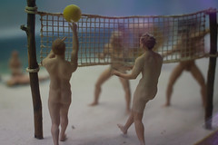 Balls (Cathy G) Tags: berlin museum canon germany naked model natural models beachvolleyball ddr littlepeople vollyball nakedpeople naturists ddrmuseum nakedvolleyball canon7d canon40mm