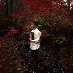 In remembrance of life (Masha Sardari) Tags: boy red white man tree art fall love leaves shirt digital square photography book education mark fine study ii 5d format masha lovr sardari wwwmashasardaricom