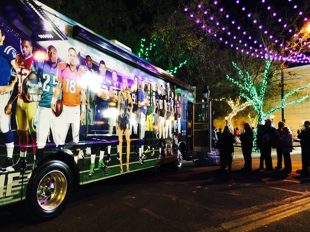 Sunday Night Football bus at #GlendaleGlitters #SNFTour #SNF