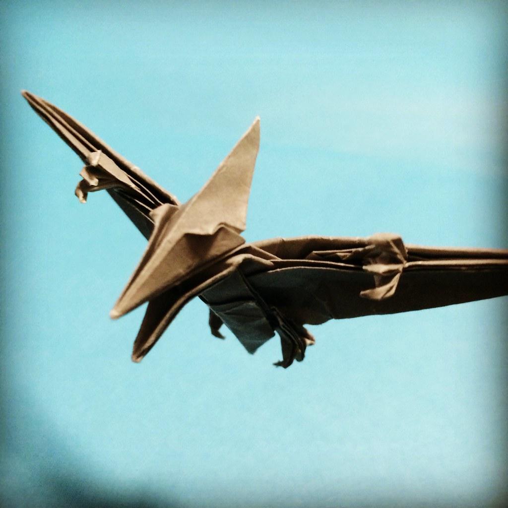 Pteranodon Joigami Tags Origami Pterodactyl